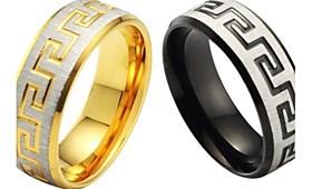 $Μόνο δαχτυλίδι λεπτόκοκκο και υψηλής ποιότητας χάλυβα τιτανίου ανδρών