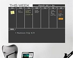 $Σχέδιο εβδομάδα jiubai ™ μαυροπίνακας τοίχο decal τοίχο αυτοκόλλητο