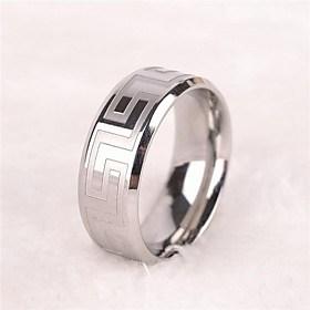 $Men's Europe Simple Personality Titanium Steel Ring