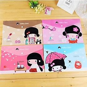 $τσάντα ιαπωνική μοτίβο κορίτσι πλαστικό φάκελο Α4 (1 τεμ τυχαία χρώμα)