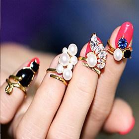 $1pc Δαχτυλίδια για τη Μέση του Δαχτύλου - Κρίκοι - για Γάμου/Πάρτι/Καθημερινά/Causal - από Κράμα