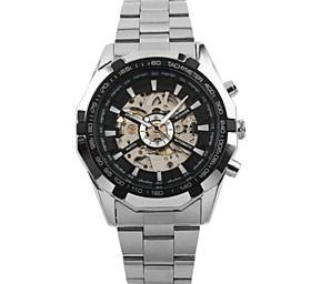 $WINNER Ανδρικά Ρολόι Φορέματος Ρολόι Καρπού μηχανικό ρολόι Αυτόματο κούρδισμα Εσωτερικού Μηχανισμού Ανοξείδωτο Ατσάλι Μπάντα Πολυτέλεια