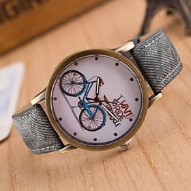 $γυναικών ευρωπαϊκή μόδα στυλ ποδήλατο ρετρό περιστασιακό ρολόγια καμβά