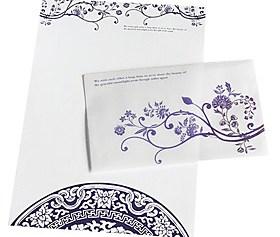$το μπλε και το λευκό πακέτο φάκελο πορσελάνη (3 φάκελο 6 χαρτί, τυχαίο μοτίβο)