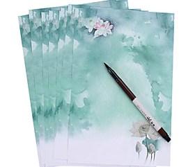 $μικρό φρέσκο κινέζικο ανέμου (ένα σύνολο από 8 κομμάτια αντίκες χαρτί, τυχαίο μοτίβο)