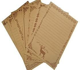 $vintage δαντέλα kraft σύνολο επιστολή χαρτί (ένα σύνολο από 8 κομμάτια τυχαία μοτίβο)