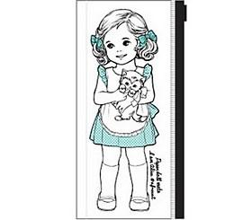 $Κορέας κορίτσι τσάντα διαφανή στυλό