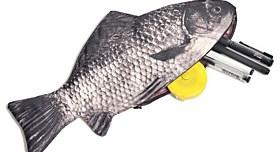 $σχεδιασμός ψάρια δημιουργική μολύβι περίπτωση τσάντα σχολικά είδη γραφείου χαριτωμένο αστείο δώρο γενεθλίων