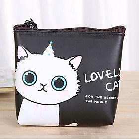 $μοτίβο κινουμένων σχεδίων γάτα πορτοφόλι pu δερμάτινο αλλαγή
