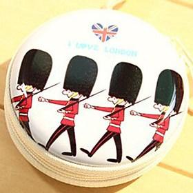 $ταξιδιωτικό μεταλλικό καρτούν Βρετανοί στρατιώτες αλλάξει ακουστικά κουτί αποθήκευσης (τυχαία χρώμα)