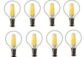 $4.5W E14 E27 LED Λάμπες Πυράκτωσης G45 6 COB 600 lm Θερμό Λευκό Διακοσμητικό AC220 AC230 AC240 V 8 τμχ