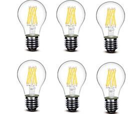 $5.5W E27 LED Λάμπες Πυράκτωσης A60(A19) 8 COB 700 lm Θερμό Λευκό Διακοσμητικό AC220 AC230 AC240 V 6 τμχ
