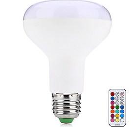 $10W LED Έξυπνες Λάμπες R80 38 SMD 5050 800 lm Θερμό Λευκό RGB Τηλεχειριζόμενο Διακοσμητικό V 1 τμχ