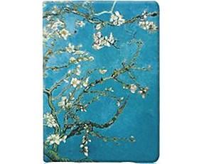 $Για Θήκες Καλύμματα με βάση στήριξης Ανοιγόμενη Με σχέδια Αυτόματο ύπνος/αφύπνιση Πλήρης κάλυψη tok Λουλούδι Σκληρή PU Δέρμα για Apple