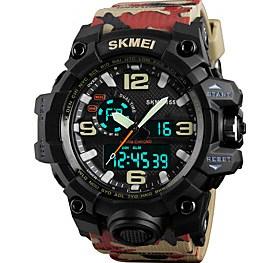 $SKMEI Ανδρικά Αθλητικό Ρολόι Στρατιωτικό Ρολόι Μοδάτο Ρολόι Ρολόι Καρπού Ψηφιακό ρολόι Ιαπωνικά ΧαλαζίαςLED Ημερολόγιο Χρονογράφος