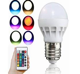 $3W LED Έξυπνες Λάμπες A50 1 Ενσωματωμένο LED 100 lm RGB Διακοσμητικό Τηλεχειριζόμενο V 1 τμχ