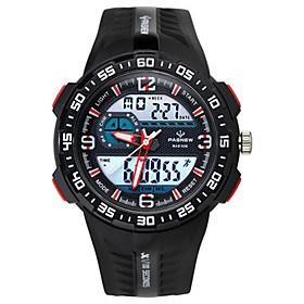 $Ανδρικά Αθλητικό Ρολόι Μοδάτο Ρολόι Ψηφιακό Ανθεκτικό στο Νερό Χρονόμετρο καουτσούκ Μπάντα Μαύρο Μπλε Κόκκινο