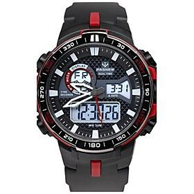 $Ανδρικά Αθλητικό Ρολόι Μοδάτο Ρολόι Ψηφιακό Ανθεκτικό στο Νερό Χρονόμετρο καουτσούκ Μπάντα Μαύρο