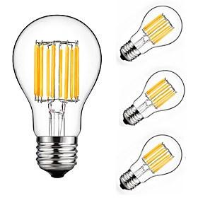 $10W LED Λάμπες Πυράκτωσης A60(A19) 10 COB 900 lm Θερμό Λευκό Ψυχρό Λευκό Διακοσμητικό AC 175-265 V 4 τμχ