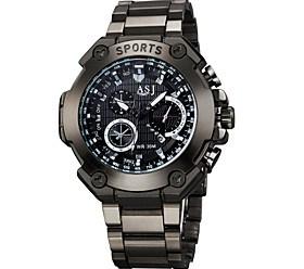 $ASJ Ανδρικά Αθλητικό Ρολόι Ρολόι Κολιέ Χαλαζίας Ανθεκτικό στο Νερό Μεγάλο καντράν κράμα Μπάντα Λεκτικό ρολόι Καθημερινά Μαύρο