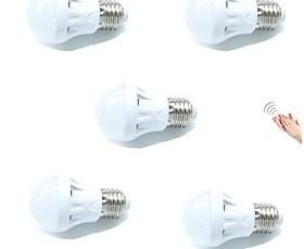 $3W LED Έξυπνες Λάμπες A60(A19) 9 SMD 2835 200 lm Θερμό Λευκό Ψυχρό Λευκό Αισθητήρας Ενεργοποίηση Ήχου Διακοσμητικό Έλεγχος φωτισμούAC