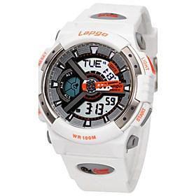$Ανδρικά Αθλητικό Ρολόι Μοδάτο Ρολόι Ψηφιακό Ανθεκτικό στο Νερό καουτσούκ Μπάντα Μαύρο Λευκή Μπλε