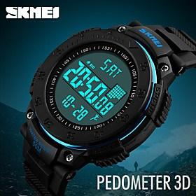 $SKMEI Ανδρικά Αθλητικό Ρολόι Στρατιωτικό Ρολόι Ρολόι Καρπού Ψηφιακό ρολόι Ιαπωνικά ΨηφιακόΗμερολόγιο Βηματόμετρο Χρονόμετρο Νυχτερινή