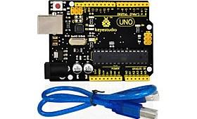 $1pcs keystudio μία κάρτα r3 (αρχική μάρκα) 1pcs usb καλώδιο-συμβατό 100% συμβατό για arduino uno r3