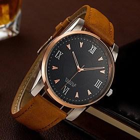 $YAZOLE Ανδρικά Μοδάτο Ρολόι Ρολόι Καρπού Μοναδικό Creative ρολόι Χαλαζίας PU Μπάντα Καθημερινά Πολυτελές Κομψή Απίθανο Μαύρο Καφέ