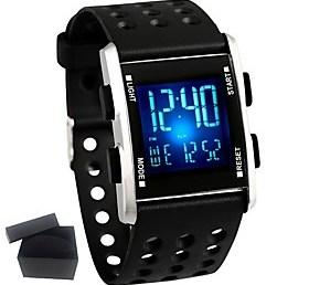 $Ανδρικά Παιδικό Έξυπνο ρολόι Μοδάτο Ρολόι Ψηφιακό ρολόι Κινέζικα Χαλαζίας Ημερολόγιο Χρονογράφος Ανθεκτικό στο Νερό σιλικόνη καουτσούκ