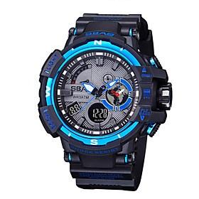 $Ανδρικά Παιδικό Αθλητικό Ρολόι Μοδάτο Ρολόι Ρολόι Καρπού Χαλαζίας LCD Ημερολόγιο Ανθεκτικό στο Νερό Διπλές Ζώνες Ώρας Χρονόμετρο PU Μπάντα