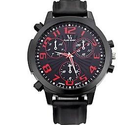 $Ανδρικά Αθλητικό Ρολόι Ρολόι Καρπού Καθημερινό Ρολόι Χαλαζίας / σιλικόνη καουτσούκ Μπάντα Πεπαλαιωμένο Καθημερινά Μαύρο