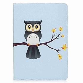 $Για iPad (2017) Θήκες Καλύμματα Θήκη καρτών Πορτοφόλι με βάση στήριξης Ανοιγόμενη Με σχέδια Μαγνητική Πλήρης κάλυψη tok Κουκουβάγια Σκληρή