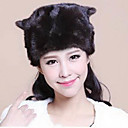 Fur Accessories Fur Hat Mink Fur Special Occasion/Casual Hat(More Colors)