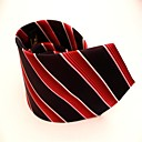 Red And Black Stripe Jacquard Man Tie