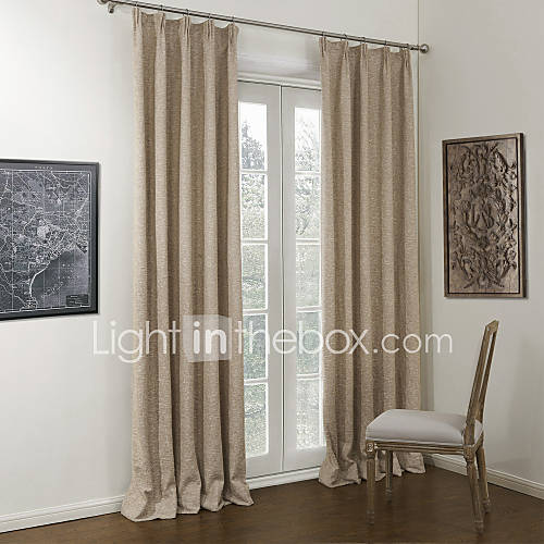 khaki bedroom curtains Neoclassical Two Panels Solid Khaki Bedroom Linen