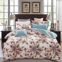 Elegant Floral Bedding Set Of 4pcs Thick Sanding Fabric ...