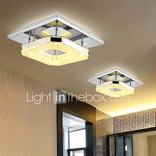 8 Flush Mount  ModernContemporary Electroplated Feature