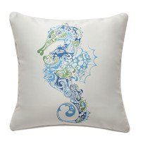 Seahorse Nautical Print Decorative Pillow Cover 481407 ...