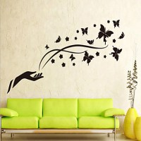 Flying Black Butterfly Wall Stickers 4699121 2017  $1.99