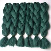 1 strand green box braids jumbo