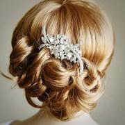 diamond bridal hair comb art crystal