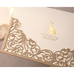 50pcs Luxury Lace Wedding Invitations Elegant Embossed White Ribbon Erfly Envelope Paper Printing Cards