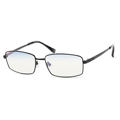 [lentes libres] rectángulo de titanio lleno-borde anteojos