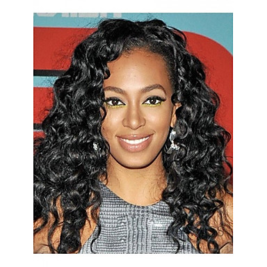 long curly hair european weave light black hair wig 2016 20 69