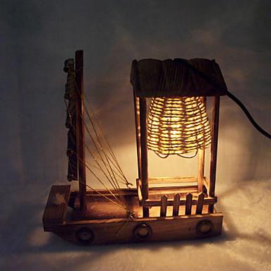 creatieve hout licht zeilen lamp decoratie bureaulamp