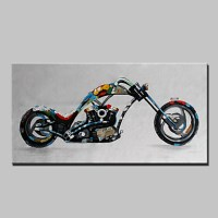 Lager Handmade Motorcycle Oil Painting On Canvas Wall ...