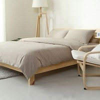 Solid Light Grey Bedding