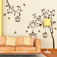 Botanical Tree and Street Light Wall Stickers 821979 2016 ...