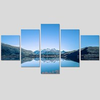 Unframed 5 Piece Lake Water Modern Home Wall Decor Canvas ...